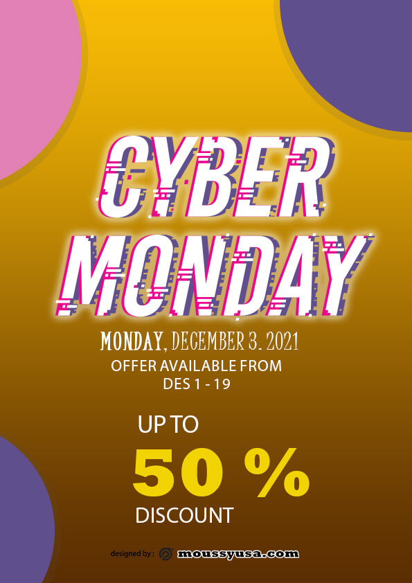 cyber monday deal flayer