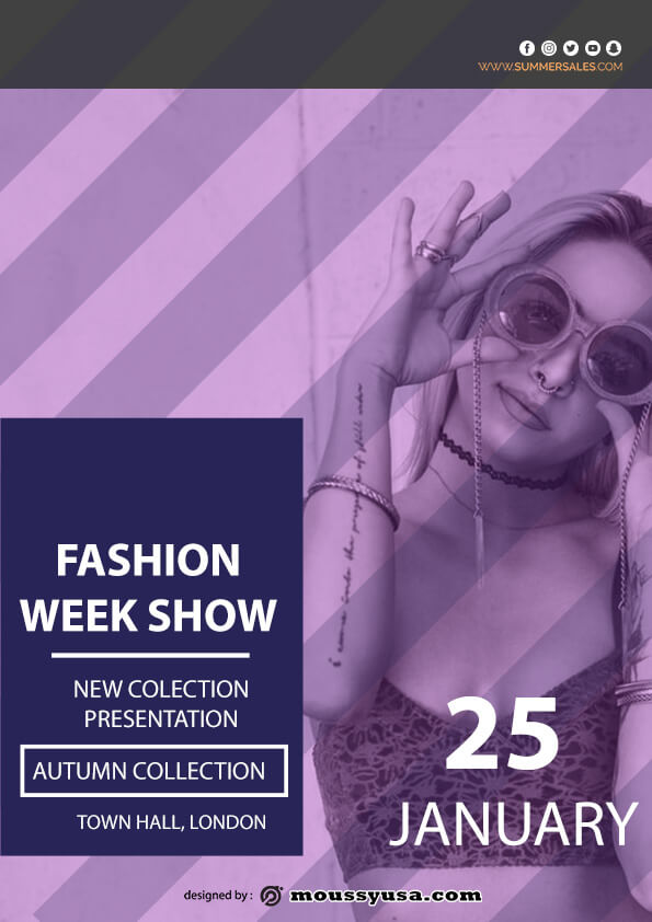 fashion week show flyer template ideas