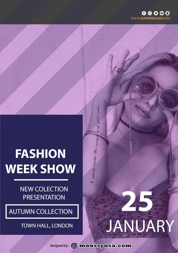 fashion week show flyer template ideas