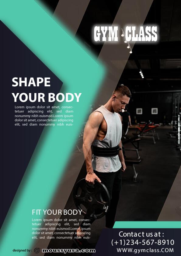 fitness class flyer template design
