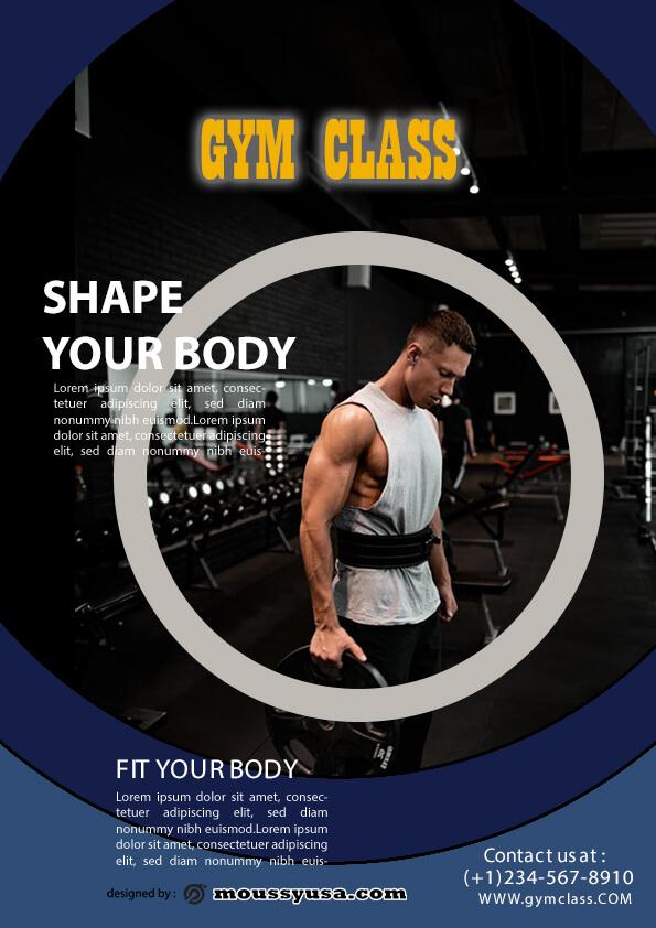 fitness class flyer template ideas