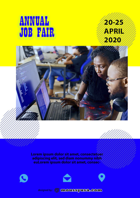 free job fair flyer template design