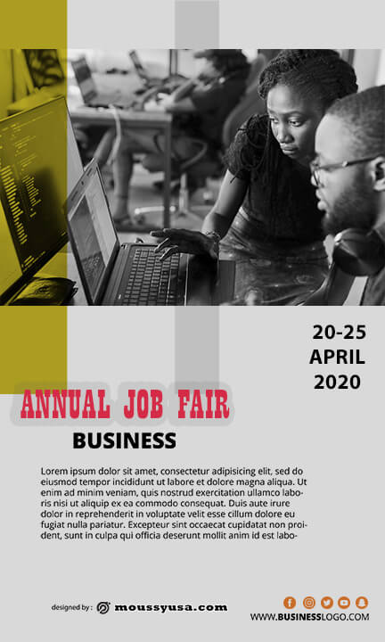 free job fair flyer template sample