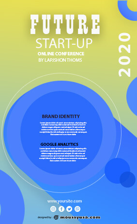 future startup flyer template design