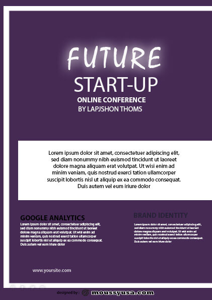 future startup flyer template ideas