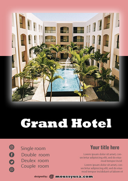 grand hotel flyer template ideas
