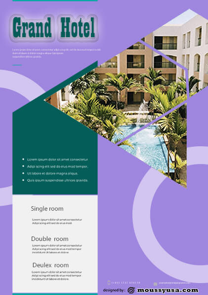 grand hotel flyer template sample