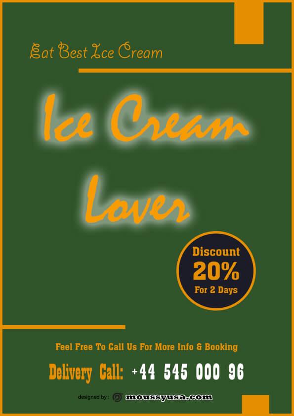 ice cream flyer template design