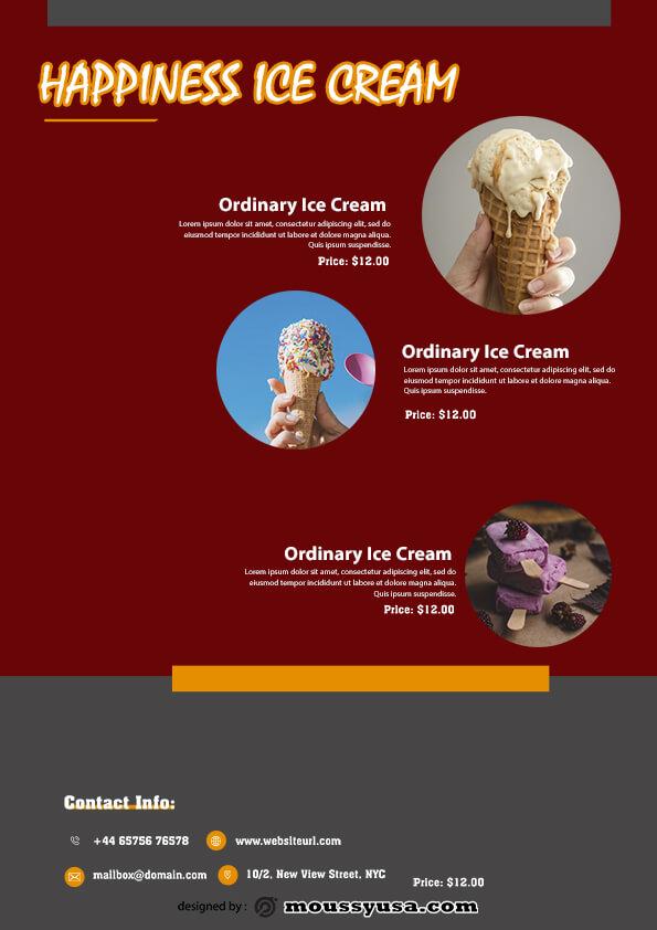 ice cream flyer template ideas