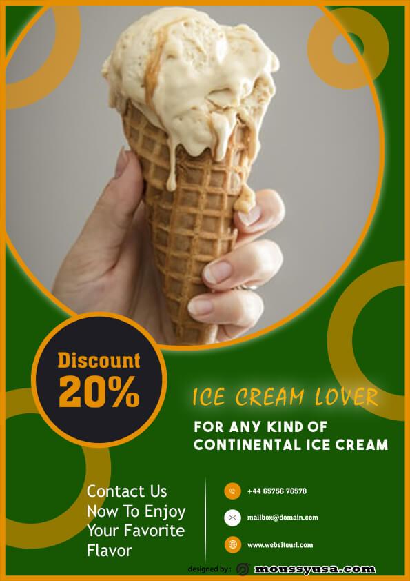 ice cream flyer template sample