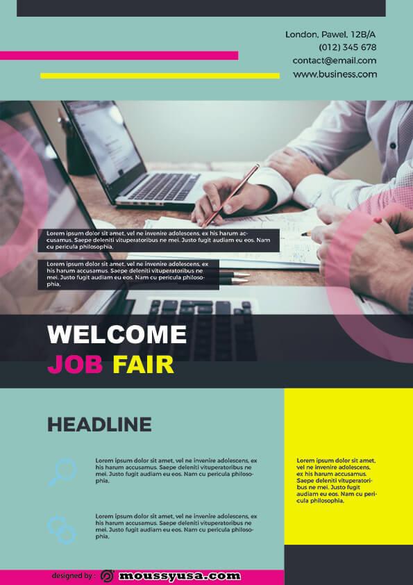 job fair flyer template design