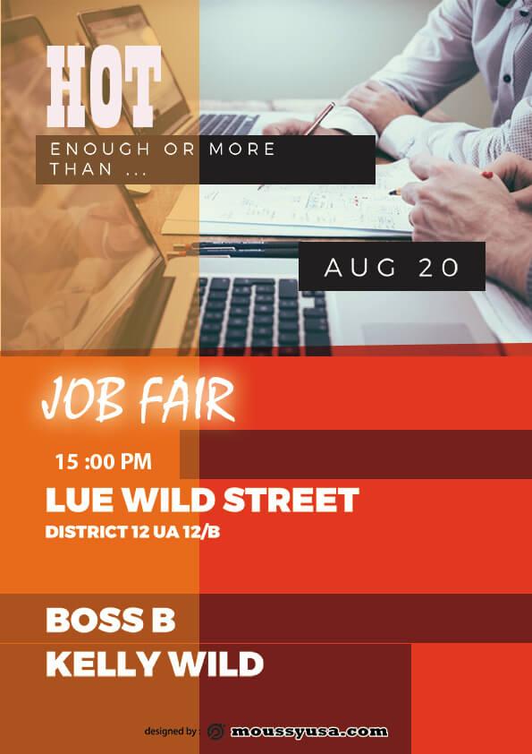 job fair flyer template sample