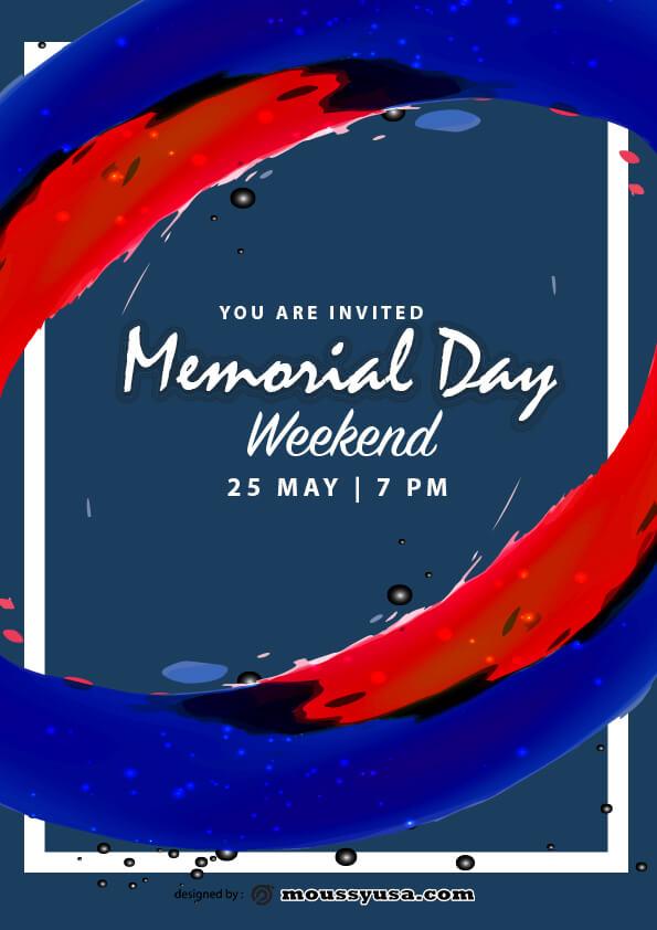 memorial day weekend flyer template design
