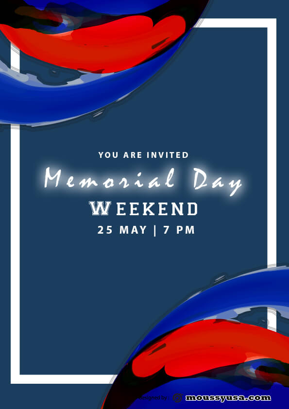 memorial day weekend flyer template ideas