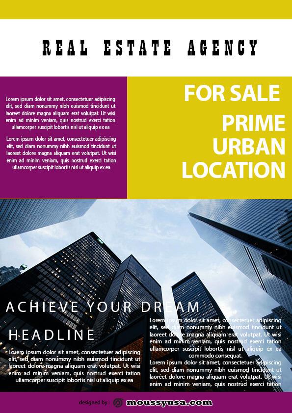 minimal real estate flyer template ideas