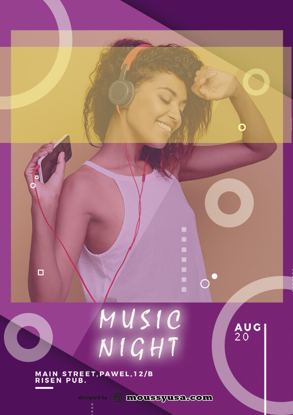 music flyer template design