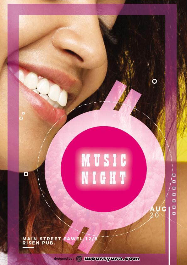 music flyer template ideas
