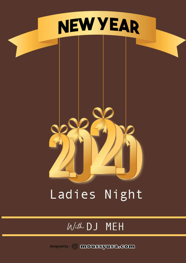 new year flyer template design