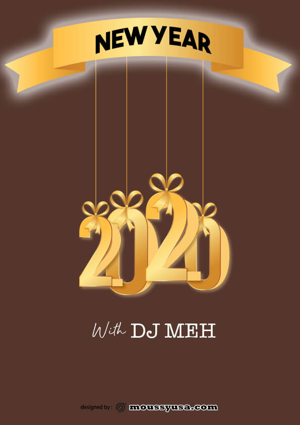 new year flyer template ideas