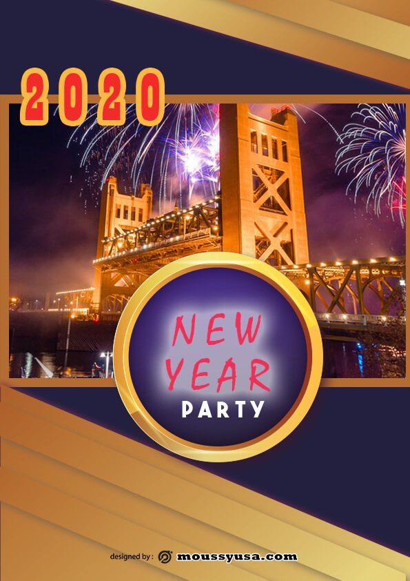 new year flyer template sample