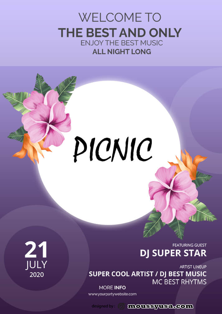 picnic flayer template ideas
