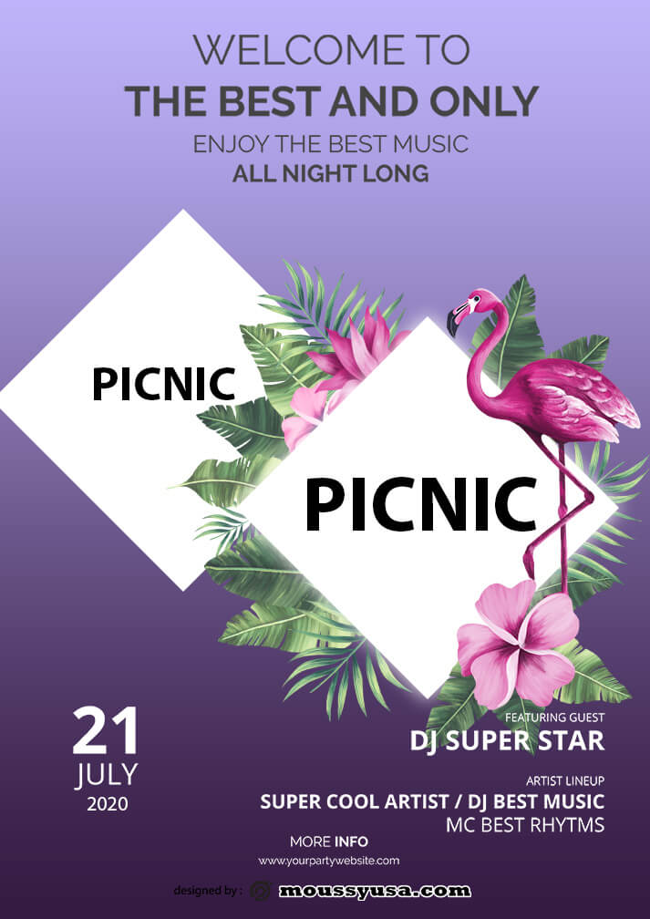 picnic flayer template sample