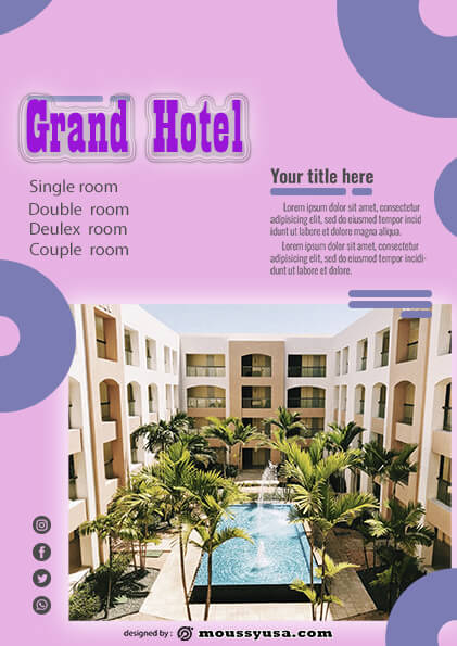 psd flyer template for grand hotel