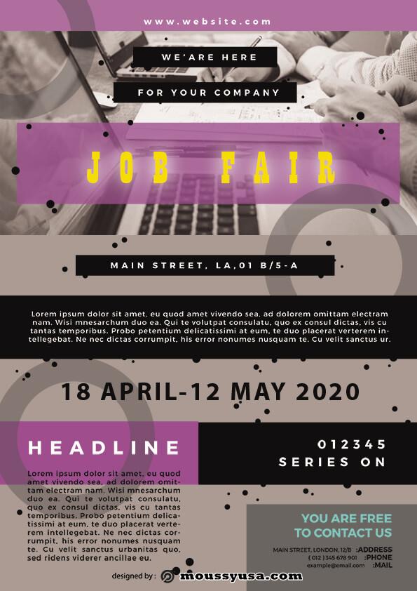 psd flyer template for job fair