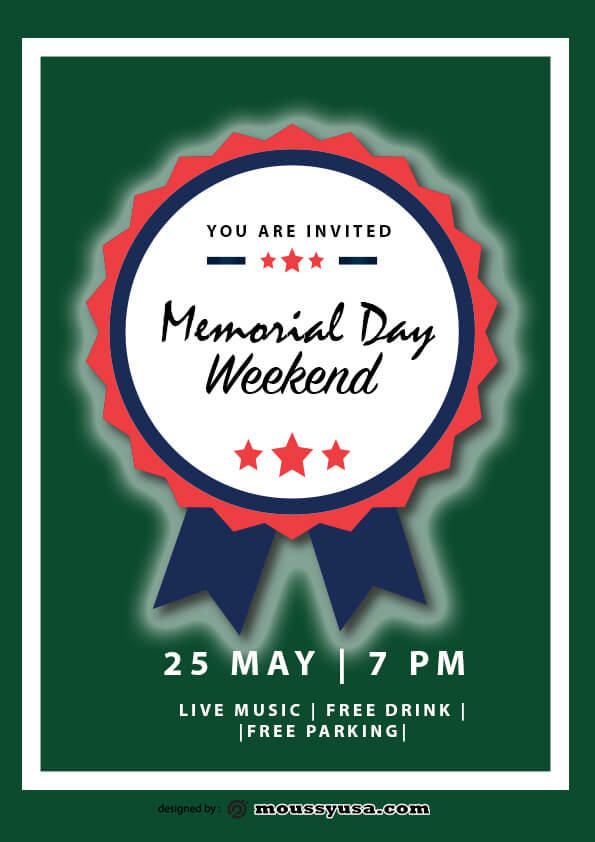 psd flyer template for memorial day weekend