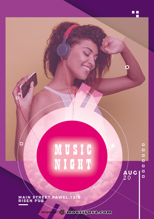 psd flyer template for music