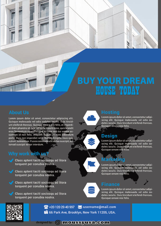 psd flyer template for real estate business