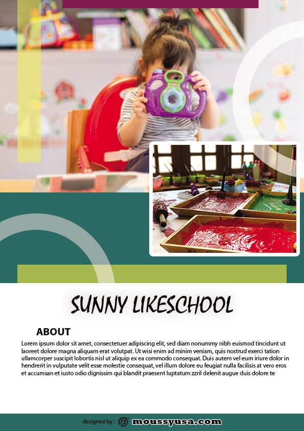 psd flyer template for simple preschool