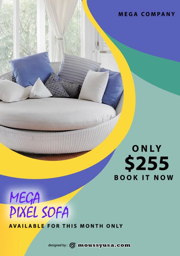 psd flyer template for sofa mega sale
