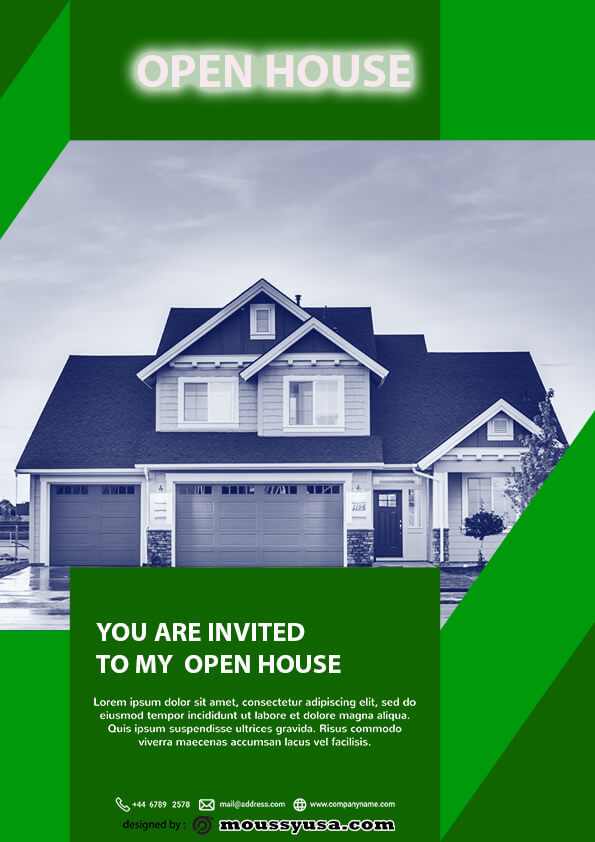 psd template for Free Home Real Estate Flyer