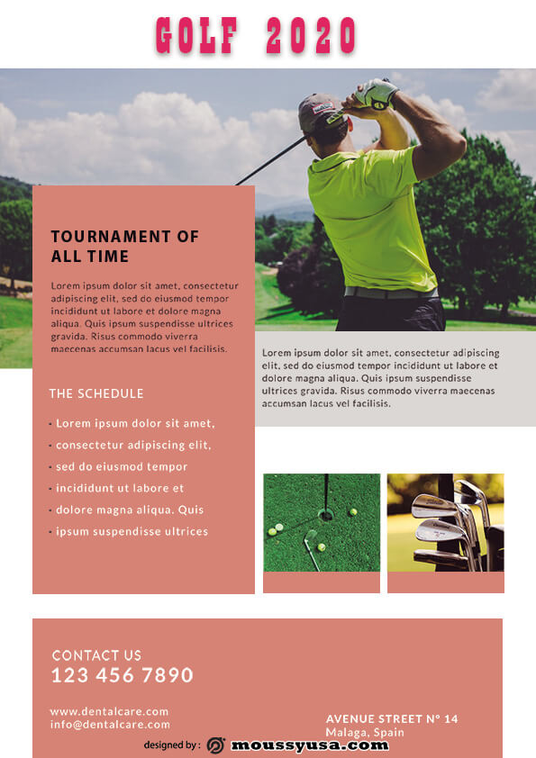 psd template for Golf Flyer