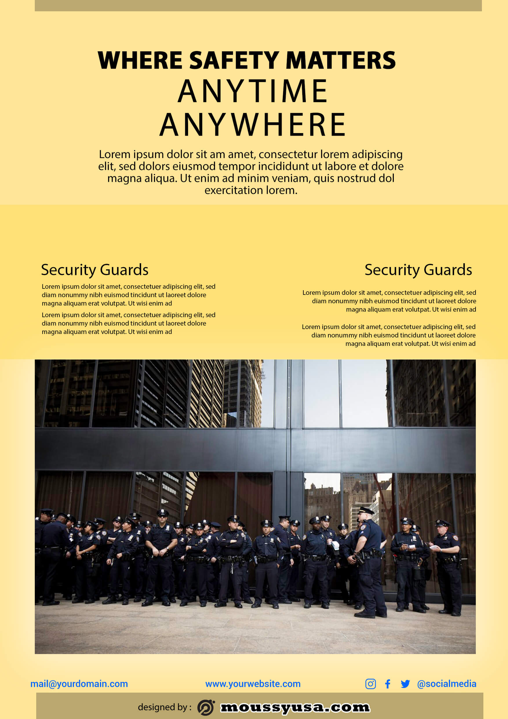 psd template for security guard