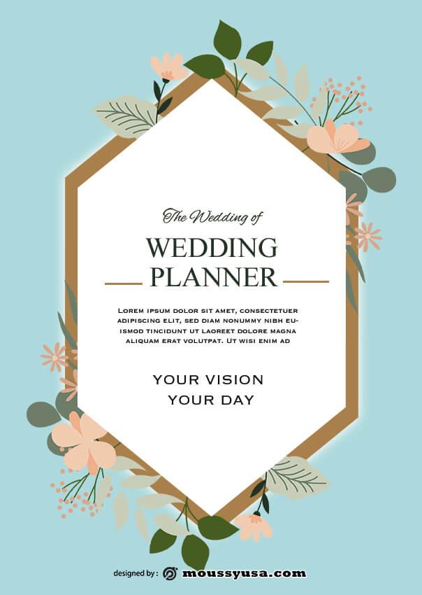 psd wedding planner flyer template