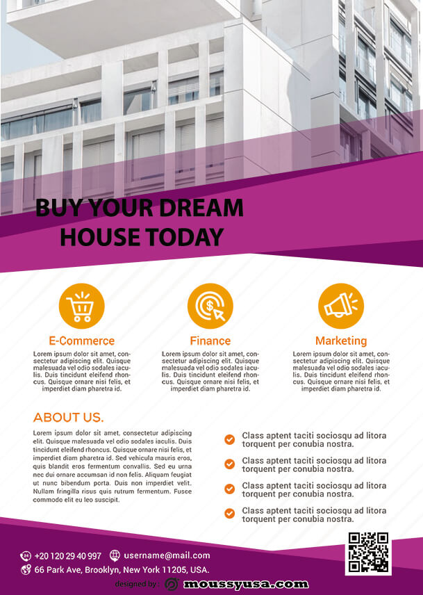 real estate business flyer template design