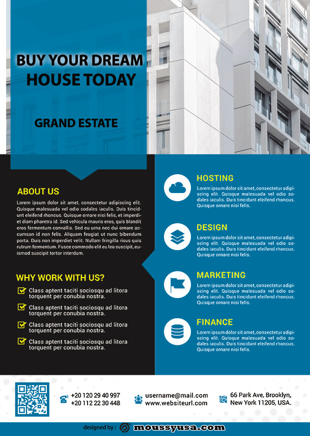 real estate business flyer template ideas