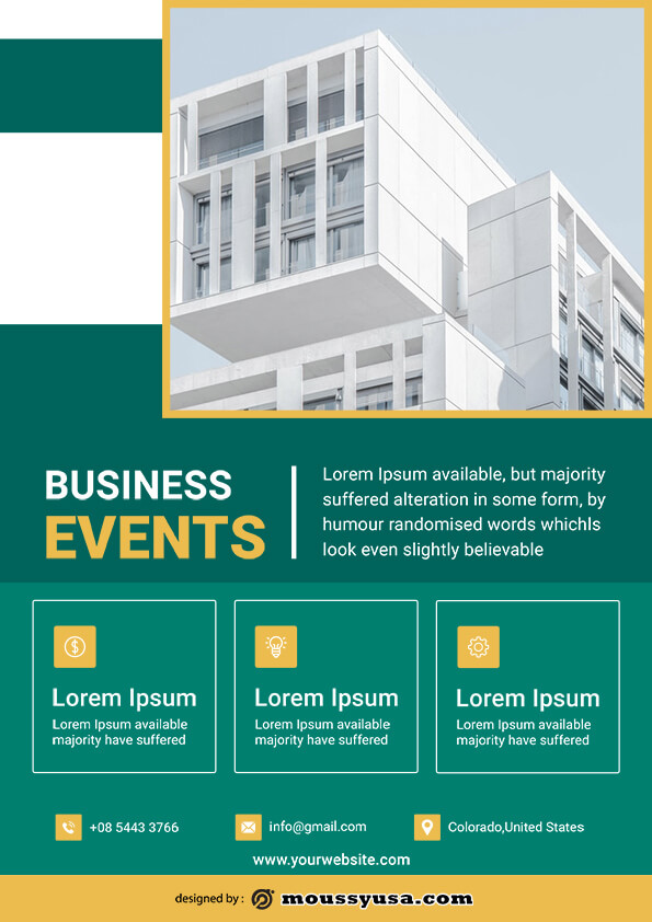 real estate business flyer template sample