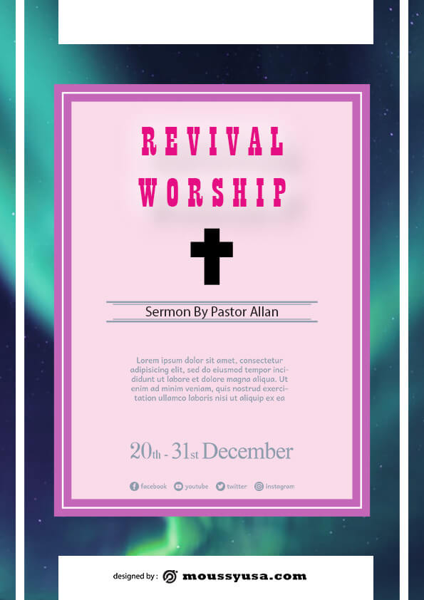 revival flayer template sample