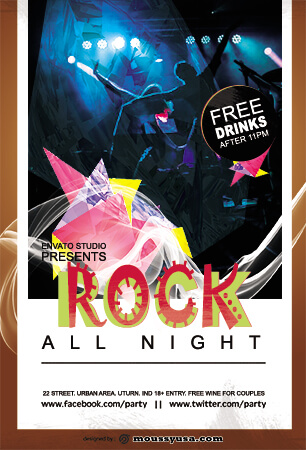 rock concert flyer template example