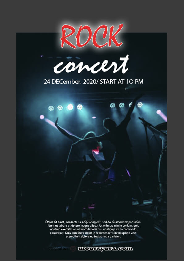 rock concert flyer template ideas