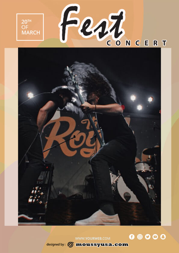 rock concert flyer template sample