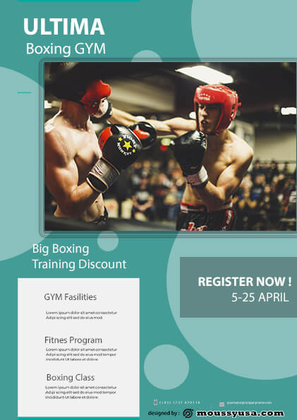 sample Boxing GYM flyer templates