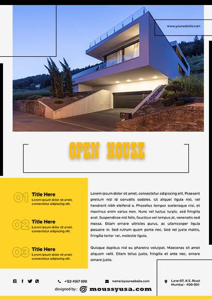 sample Elegant Open House Flyer templates
