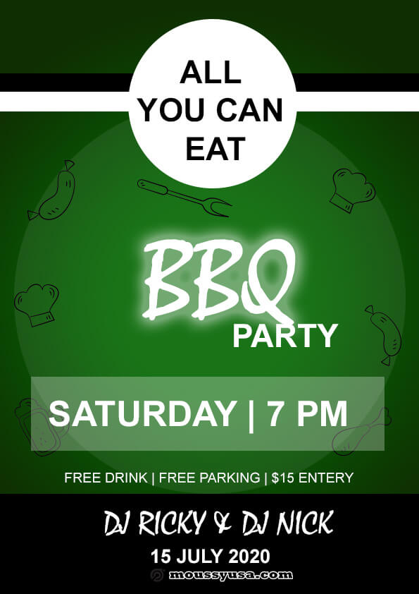 sample Free BBQ flyer templates