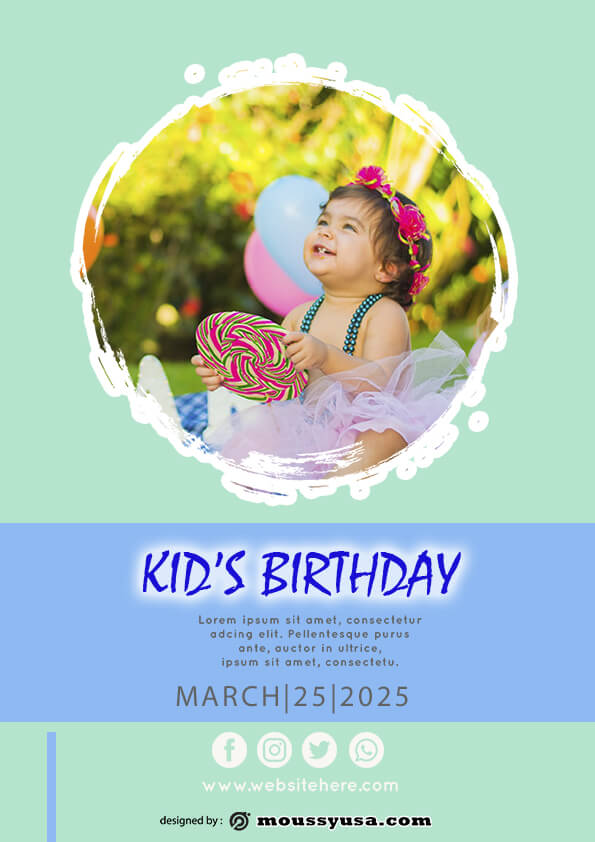 sample Free Kids Birthday Party Flyer templates