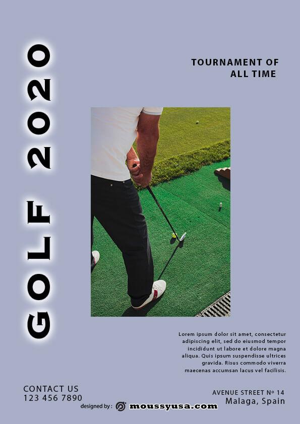 sample Golf Flyer templates