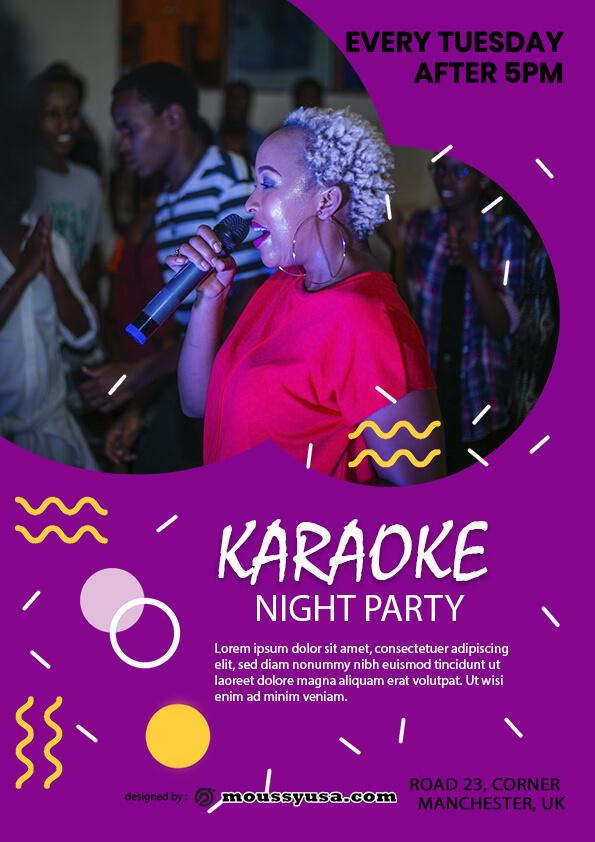 sample Karaoke Party Flyer templates
